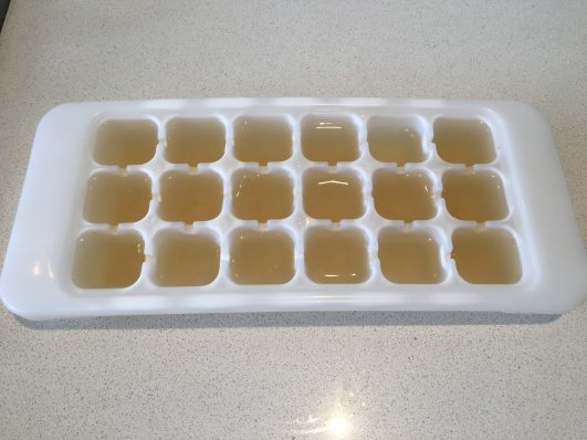 freeze in ice cube trays for easy storage