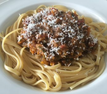 Slow cooked Harvey Beef spaghetti bolognese with hidden veggies