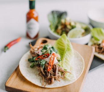 Harvey beef Soft tacos brisket with smoky paprika