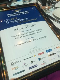 Harvey Beef Semi Finalist in Regional Achievement Awards