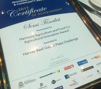 Harvey Beef Semi Finalist in Regional Achievement Awards