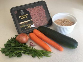 Ingredients for Harvey Beef sausage rolls