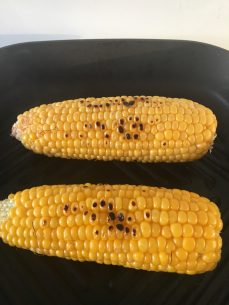 Grilled Corn for Harvey Beef Smoky American Brisket
