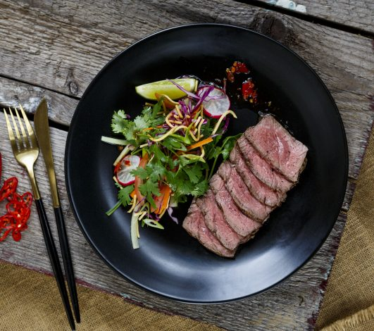 Harvey Beef Eye Fillet & Crispy Noodle Salad