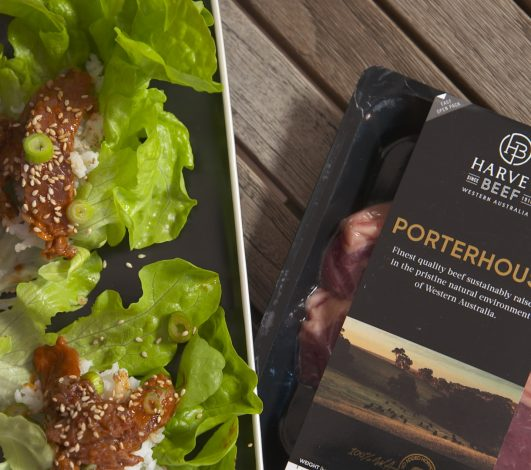 Marg Johnson's Lettuce Cups with Porterhouse Steaks