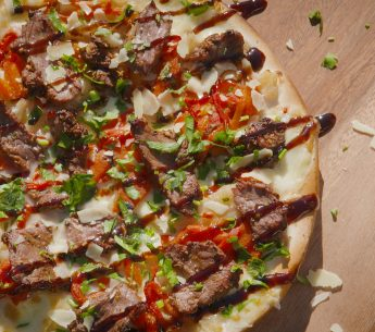 Harvey Beef Theo Kalogeracos' Peppercorn Butterflied Beef Pizza