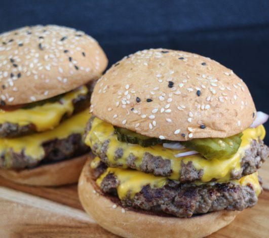 Stuart Law's Harvey Beef Ultimate Burger