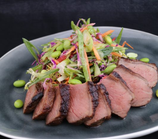 Stuart Law's Garlic & Rosemary Rump with Japanese Slaw
