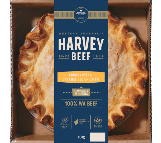 Harvey Beef Onion Family Pie 800g