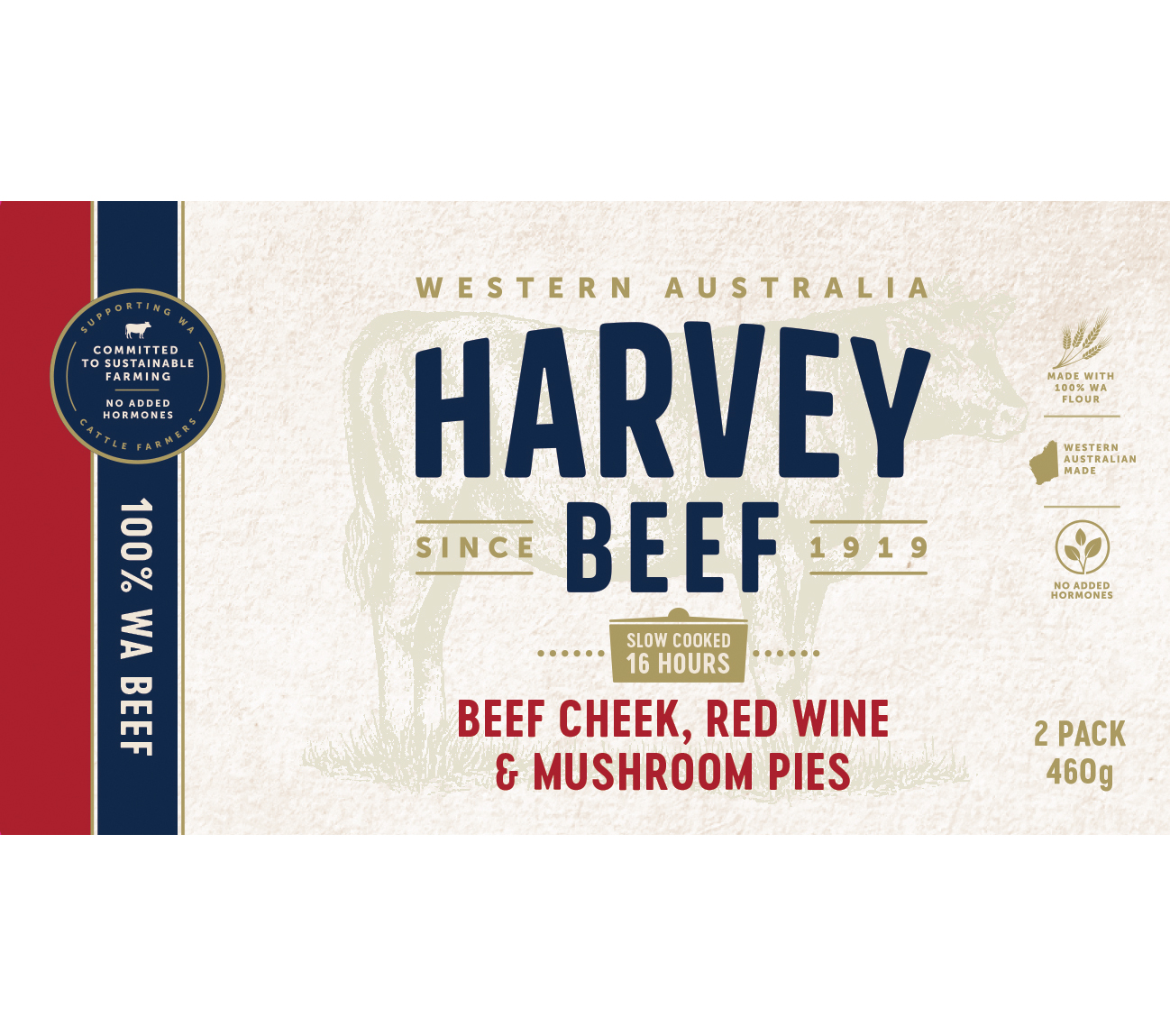 Harvey Beef Cheek Red WIne & Mushroom Pie 2 x 460g