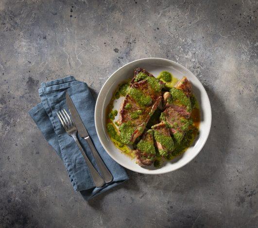 Matt Moran's Harvey Beef Sirloin with chimichurri